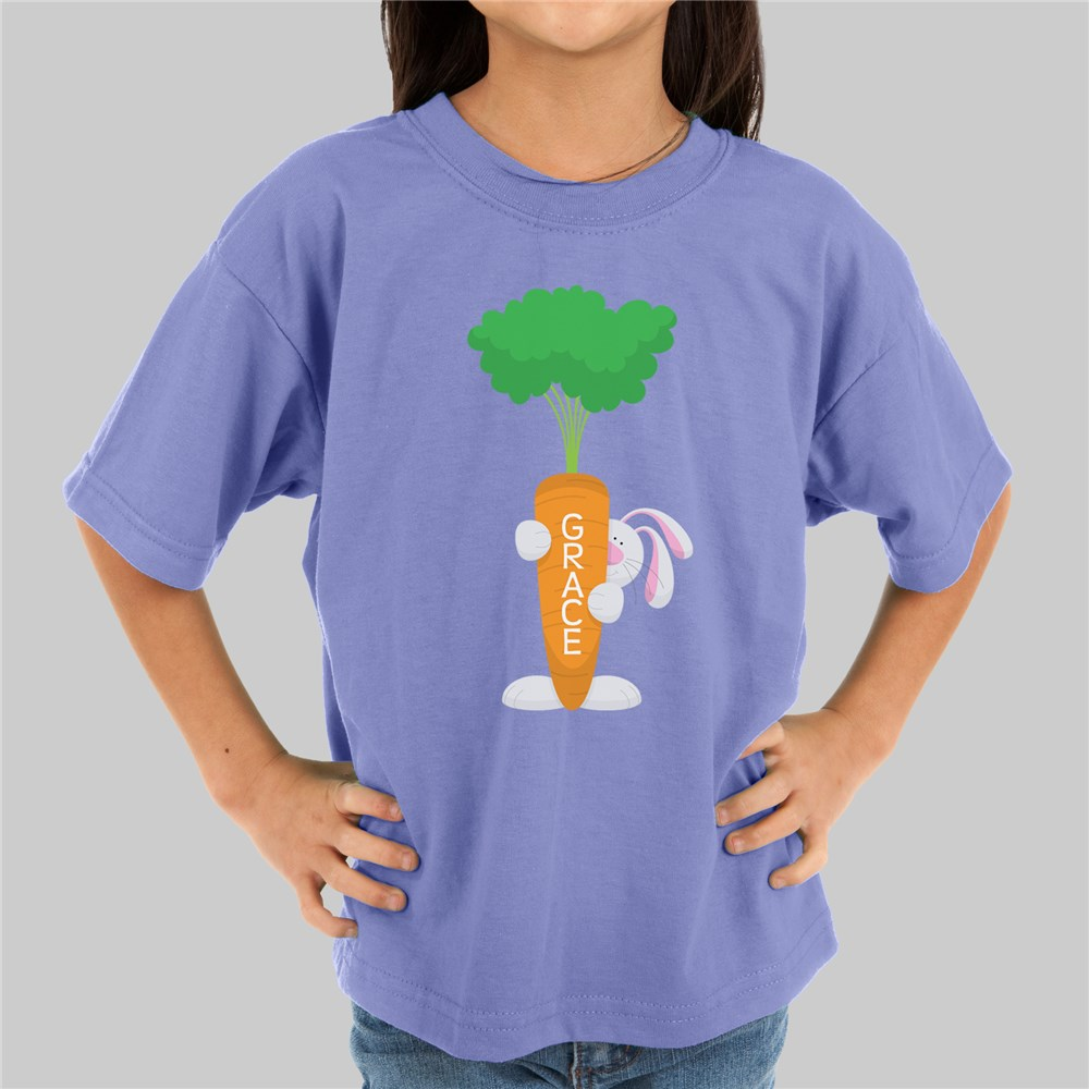 Personalized Easter Bunny Youth T-Shirt | Girls and Boys Easter Shirts