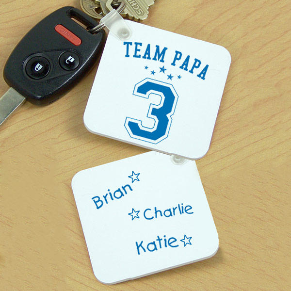 Personalized Team Dad Key Chain | Personalized Grandpa Gifts