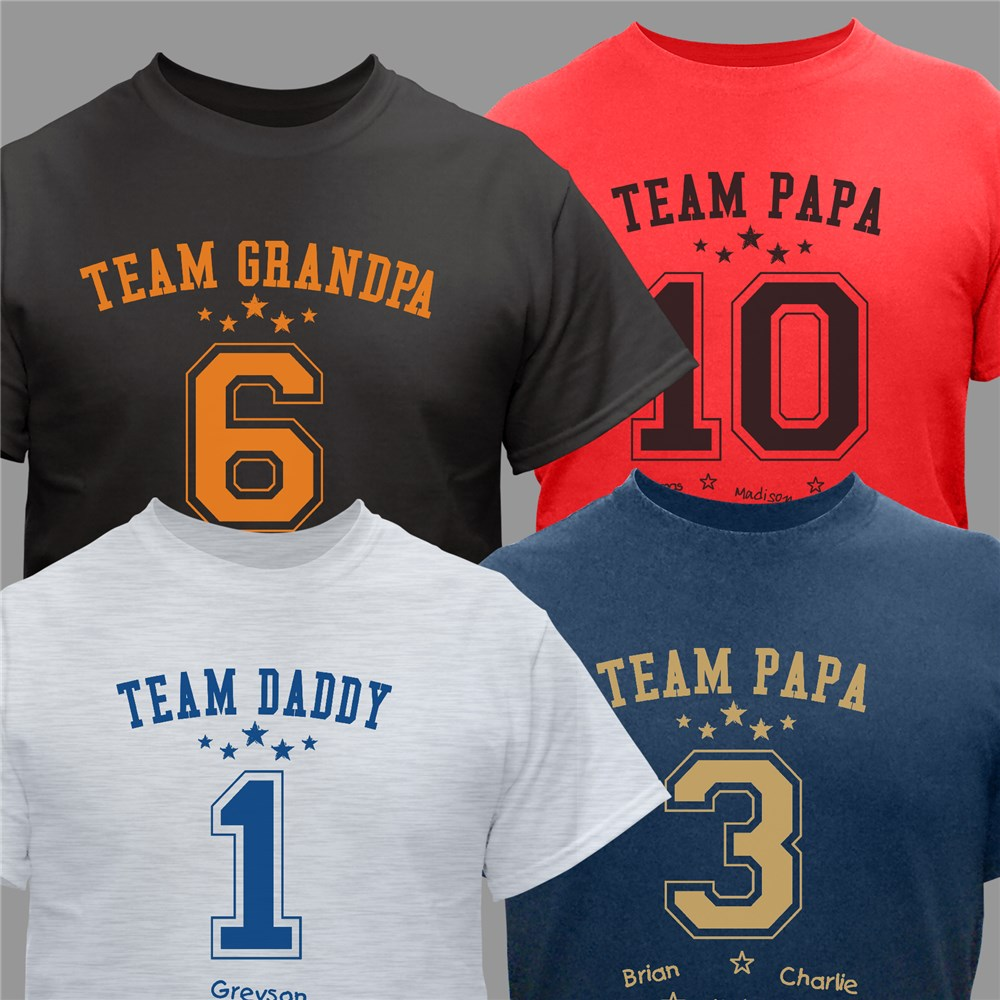Personalized Team Dad T-Shirt | Dad Shirts