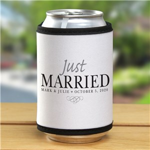 Personalized Just Married Can Wrap 377239