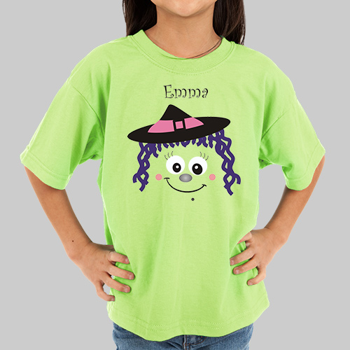 Personalized Halloween Witch T-Shirt | Kids Halloween Shirts