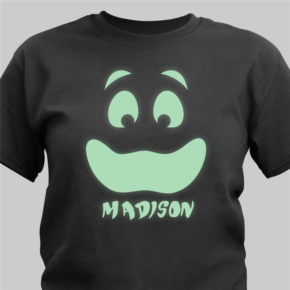 Personalized Glow In The Dark Face T-Shirt | Personalized Halloween Shirts