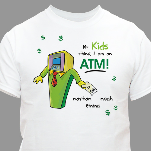 ATM Dad T-Shirt | Personalized Tshirt For Dad