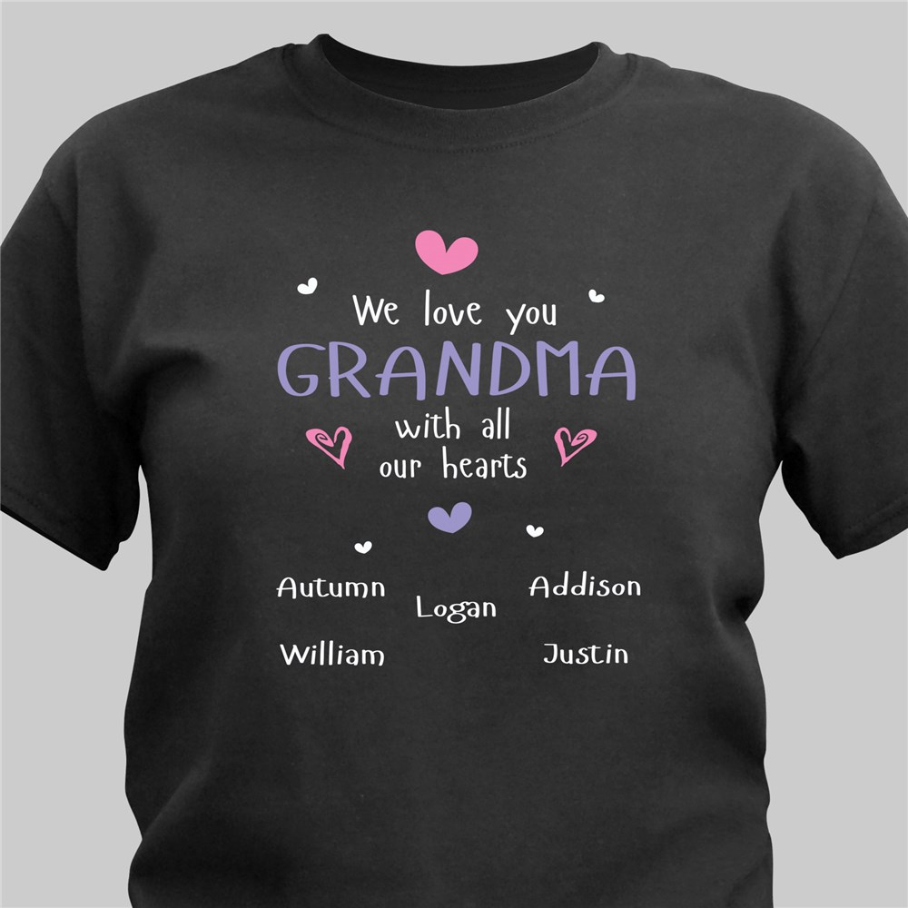 Personalized Grandma T-Shirt | Personalized Grandma T Shirts
