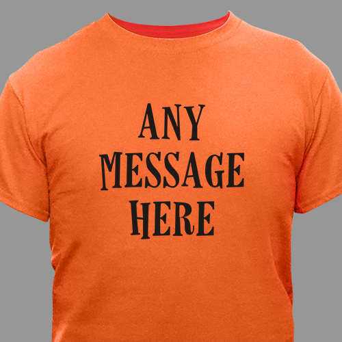 Custom Message Halloween T-Shirt | Personalized Halloween Shirts