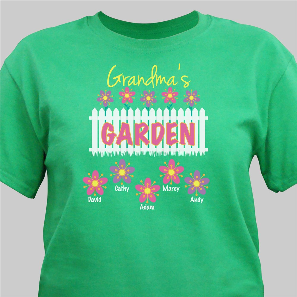 Personalized Garden T-Shirt | Personalized Grandma Shirts