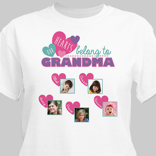 Persoanlized Family Photo T-Shirt | Personalized Grandma Shirts