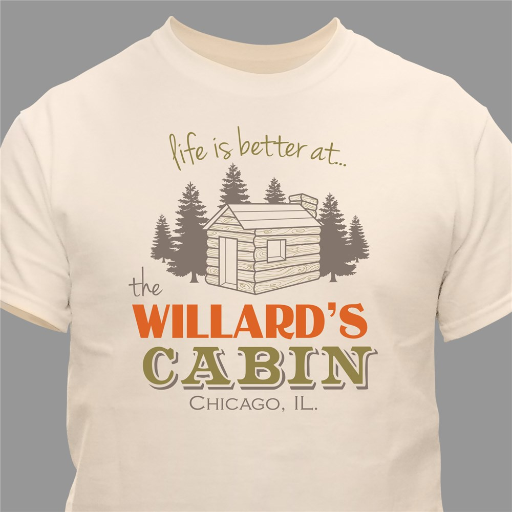 Personalized Family Cabin T-Shirt | Father's Day Gift