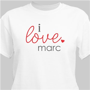 I Love You T-Shirt | Personalized Valentine's Day Presents