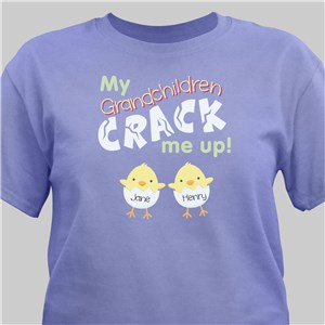 Crack Me Up Easter Tee | Personalized Grandma Shirts