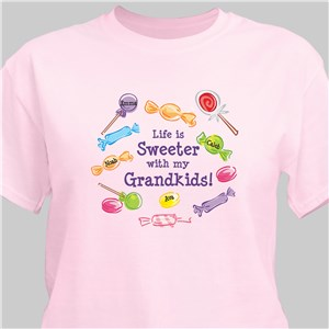 Life Is Sweeter Personalized T-shirt | Personalized Grandma Shirts
