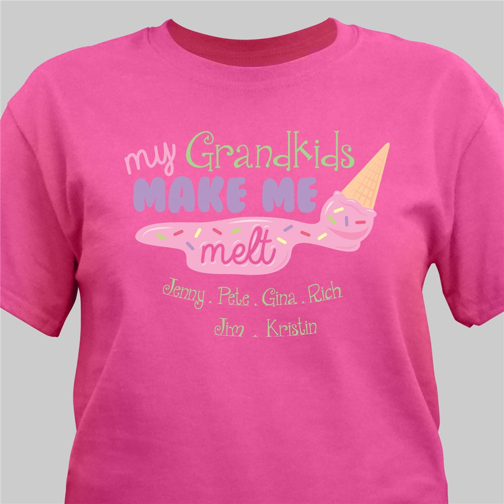 Custom Printed Grandkids T-Shirt | Personalized Grandma Gifts