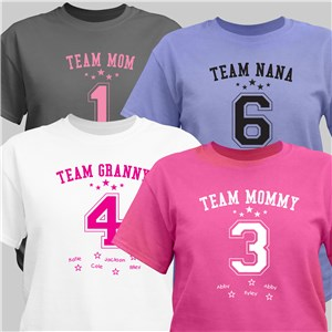 Personalized Team Mom T-Shirt | Mommy T Shirts