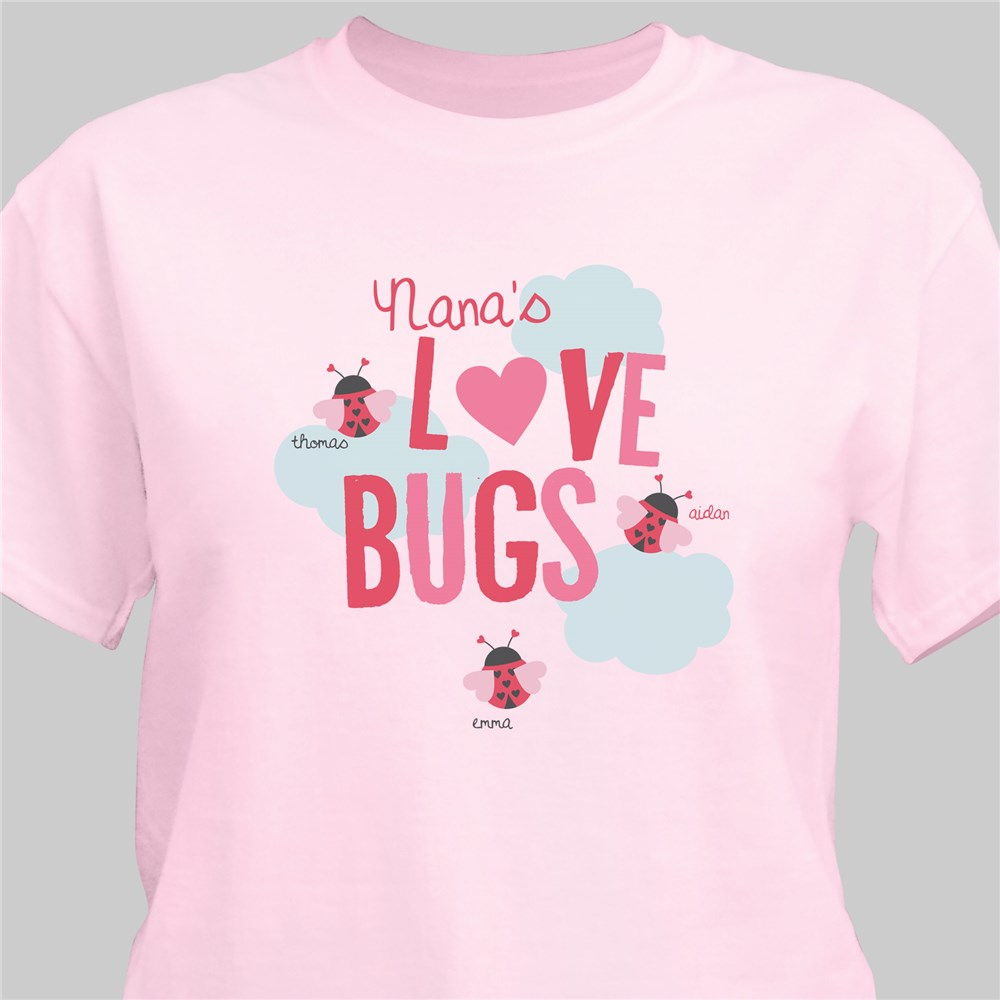 Love Bugs Personalized T-Shirt | Personalized Shirts For Mom