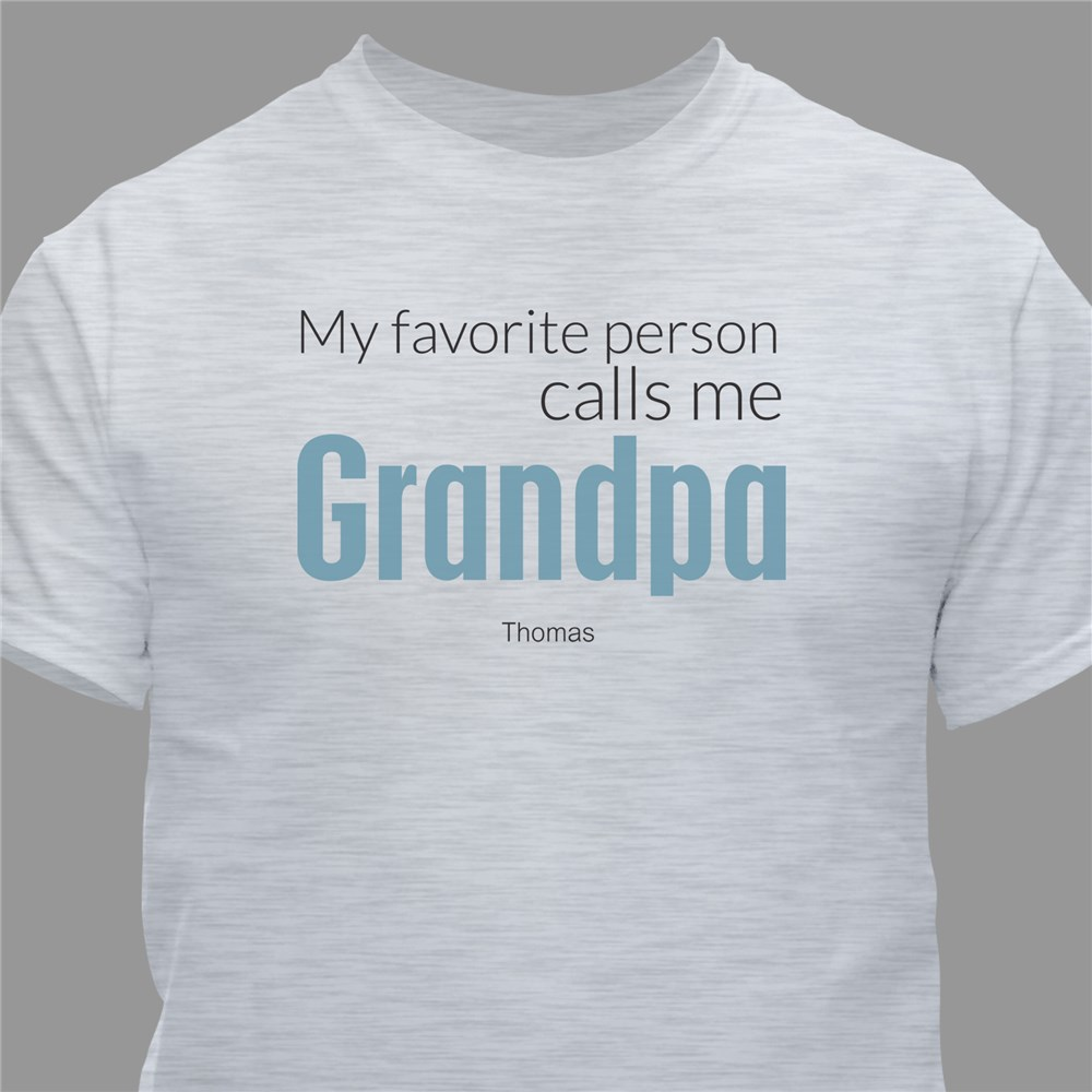 Favorite grandpa T-shirt | Dad shirts