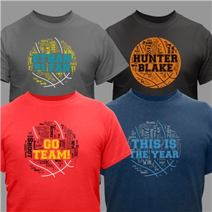 Basketball Word-Art T-Shirt | Personalized Word Art