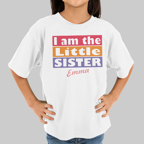 Personalized Big Sister Shirt | Personalized T-Shirts
