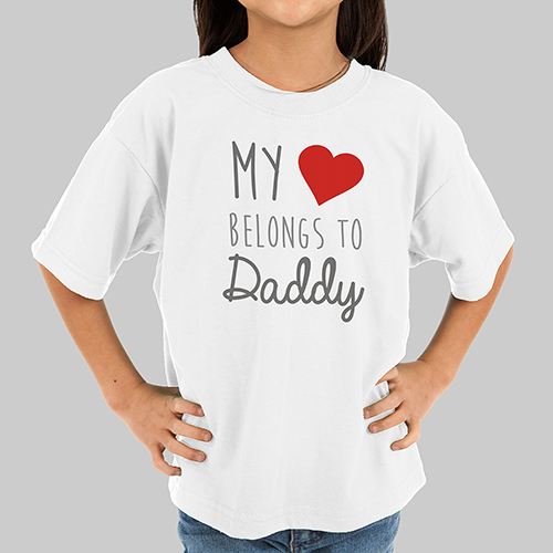 Personalized Belong's To Tshirt | Valentines Day Gifts For Kids