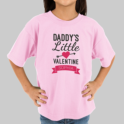 Personalized Little Valentine Kids Tshirt | Personalized Valentine Gifts For Kids