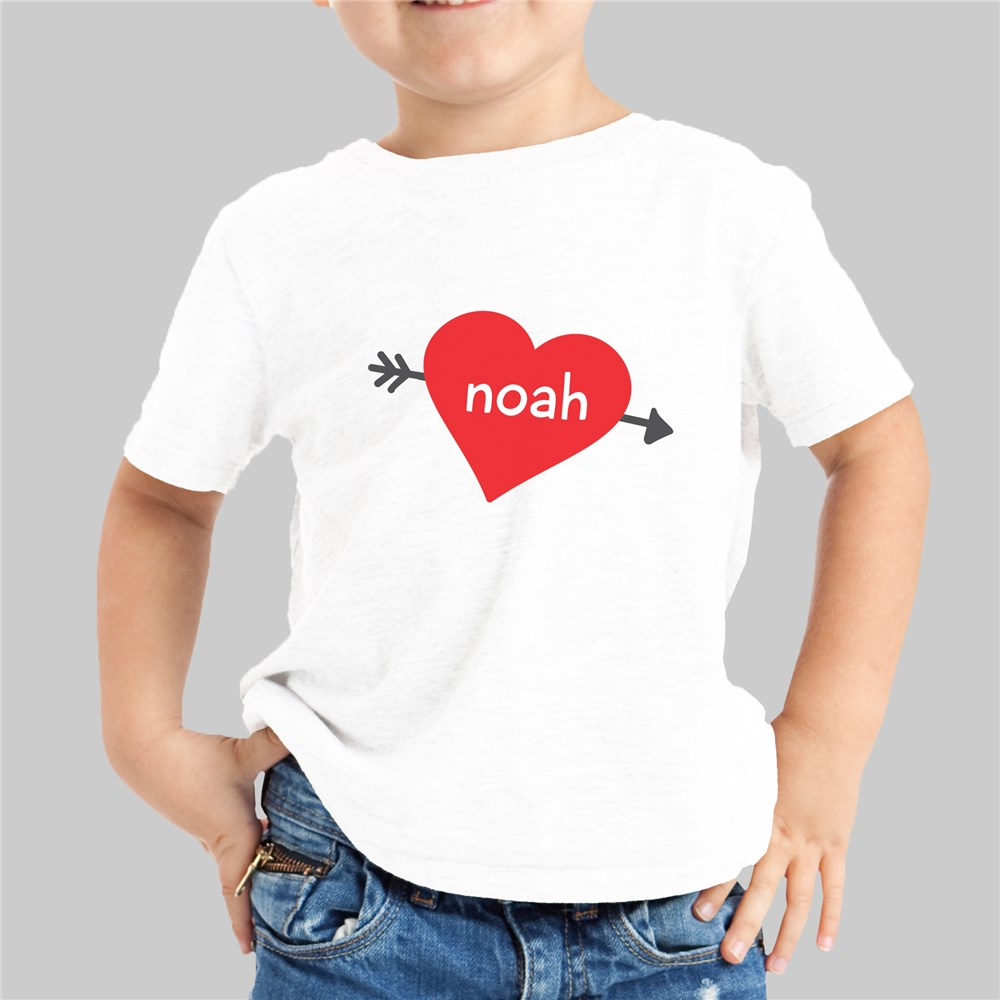 Cupid's Heart Personalized Youth T-Shirt | Valentines Day Gifts For Kids