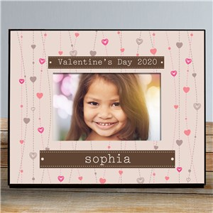 Personalized Strings Of Hearts Photo Frame | Valentines Day Gifts For Kids