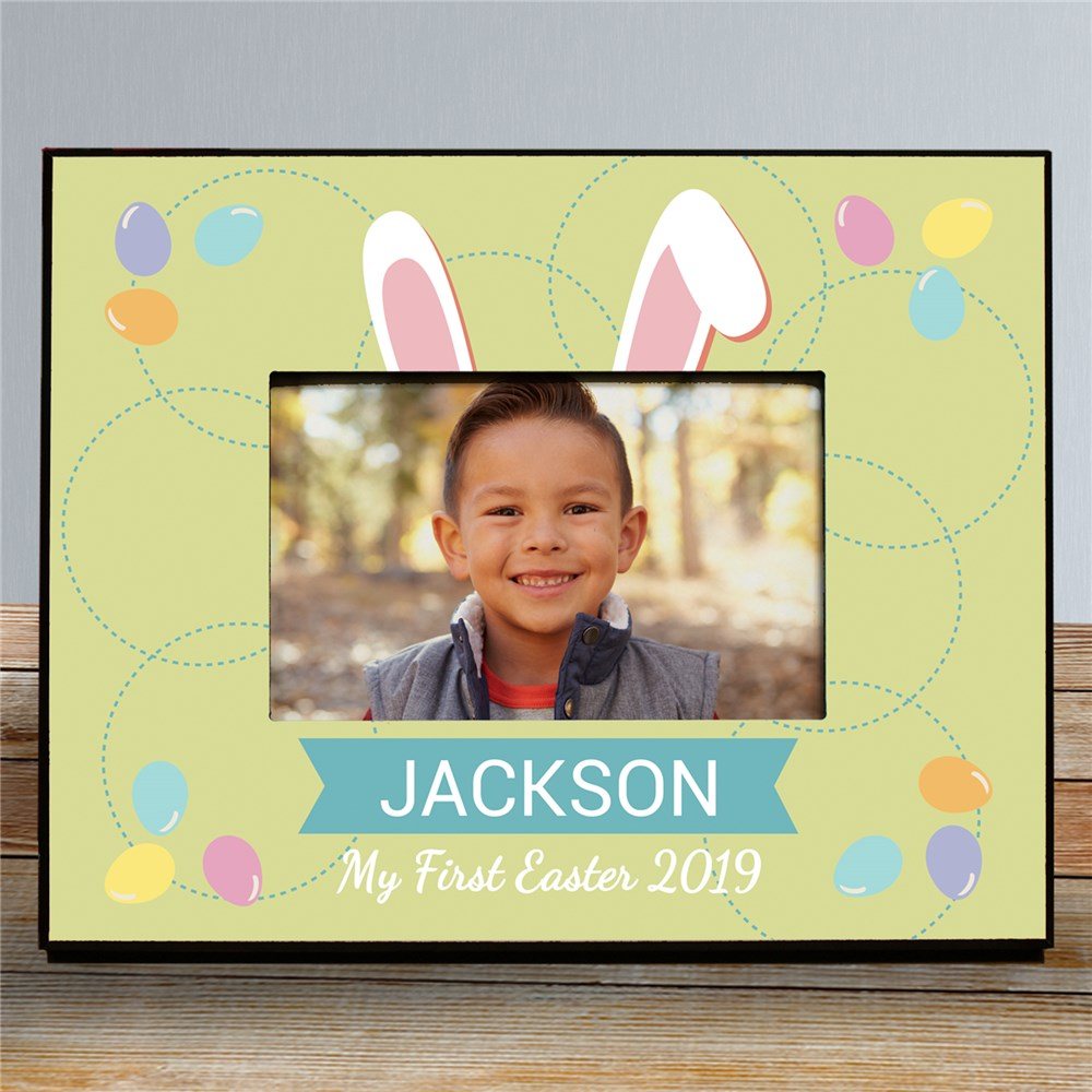 Personalized Bunny Ears Kids Photo Frame | Personalized Easter Gifts