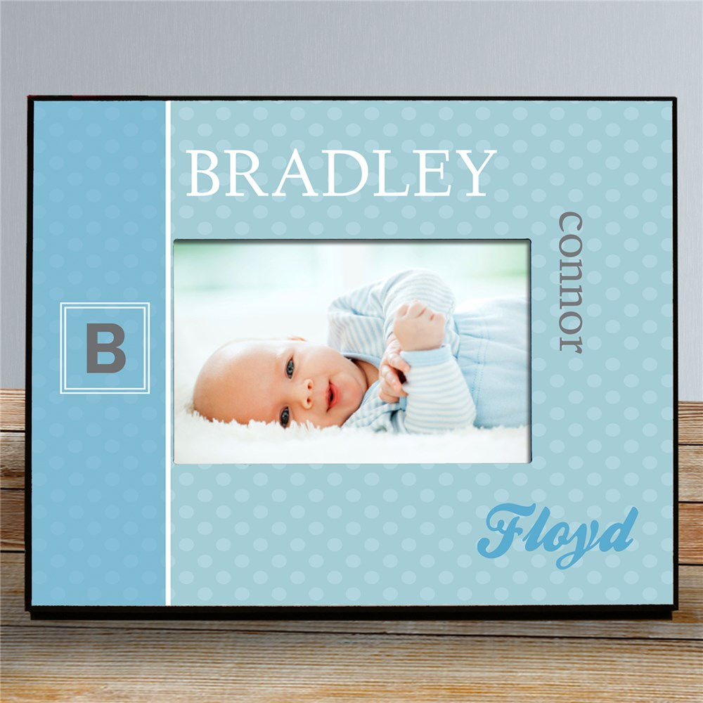 Personalized Initial Baby Photo Frame | Personalized Baby Frames