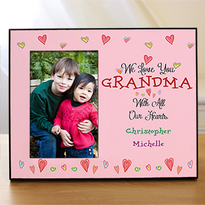 Personalized With All Our Heart Frame | Personalized Gifts For Grandma