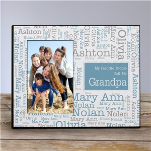 Personalized Favorite People Word-Art Printed Frame | Daddy Picture Frames