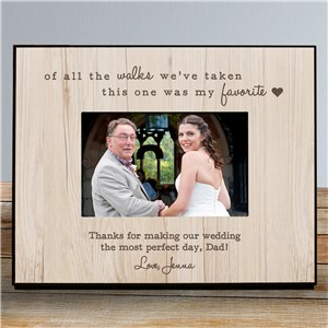 Personalized Favorite Walk Wedding Frame | Personalized Picture Frames
