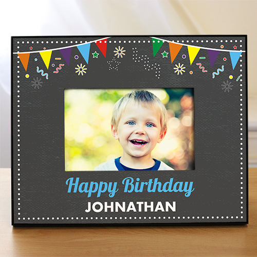 Personalized Chalkboard Birthday Frame | Personalized Picture Frames