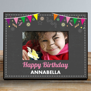 Personalized Chalkboard Birthday Frame