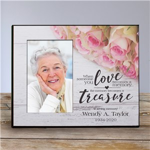 Personalized Memory Becomes a Treasure Memorial Printed Frame | Personalized Memorial Picture Frames