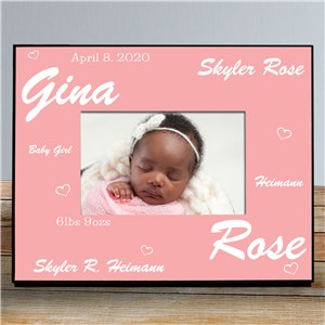 New Baby Girl Printed Frame | Baby Picture Frames