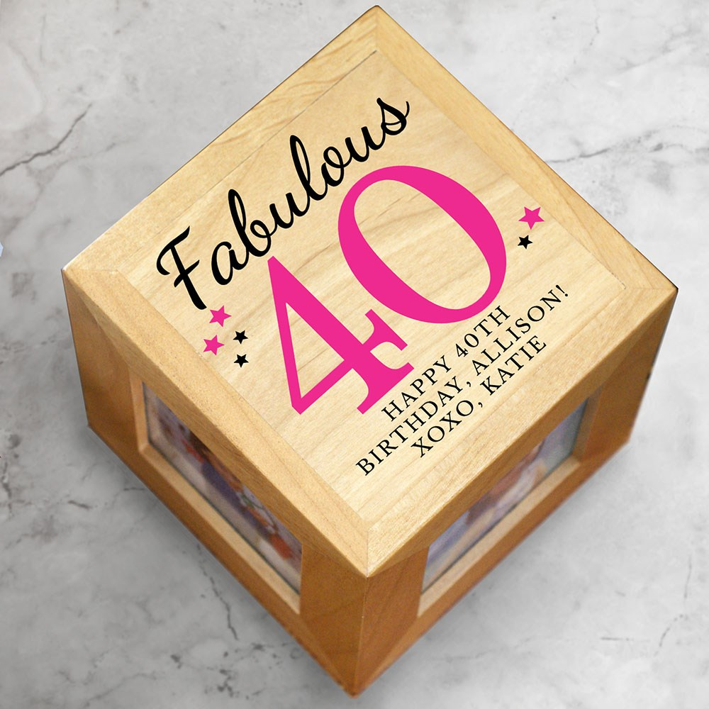 Birthday Photo Cubes | Personalized Photo Frames