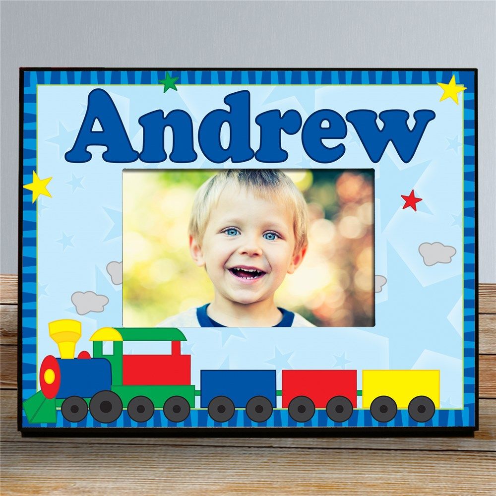 New Baby All Aboard Train Personalized Printed Frame | Baby Picture Frames