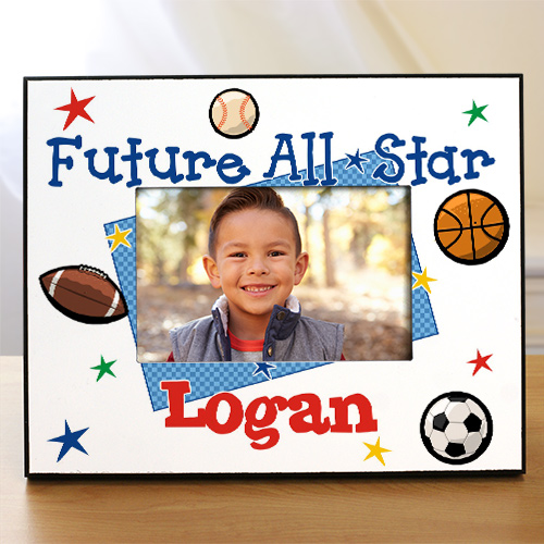 New Baby Future All-Star Personalized Printed Frame | Personalized Baby Frames