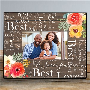 Word-Art Picture Frames | Love You Mom Frame