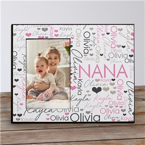 Personalized Printed Title Word-Art Frame