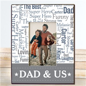 Personalized Frames for Father's Day | Word Cloud Picture Frame
