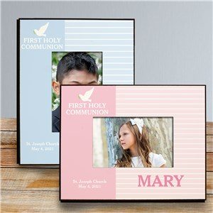 Picture Frame For First Communion | Personalized Dove Photo Frame