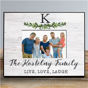 Personalized Picture Frames | Grey Wood Picture Frame