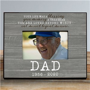 Personalized Memorial Frame | Wood Look Personalized Memorial Picture Frame