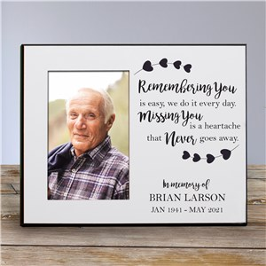 Personalized Memorial Picture Frames | Remembering You Is Easy Customized Frame