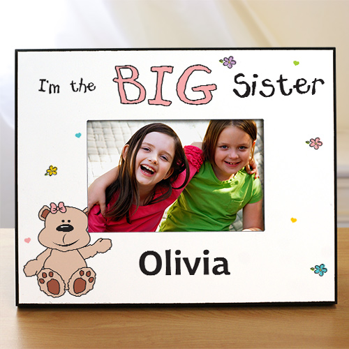 Personalized I'm the Sister Picture Frame | Big Sister Gifts from Baby