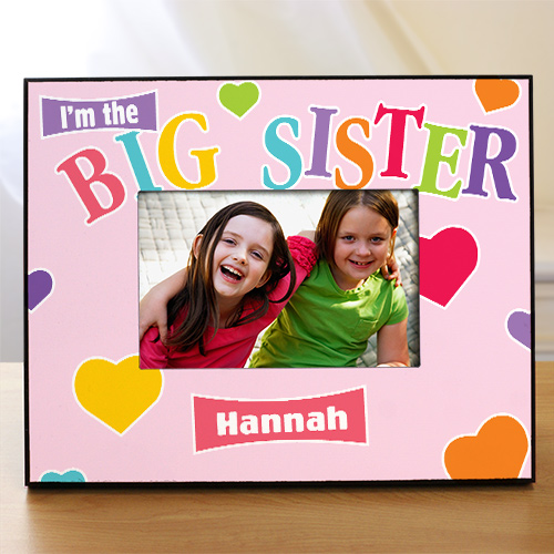 Custom Printed Big Sister Picture Frame | Big Sister Gifts