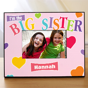 Custom Printed Big Sister Picture Frame