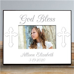 God Bless... Personalized Baptism Frame | Personalized Baptism Frames