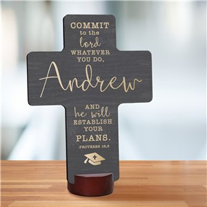 Personalized Graduation Cross Keepsake