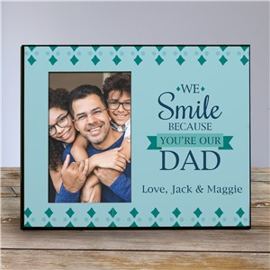 Personalized We Smile Because Frame